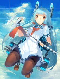 Rating: Safe Score: 36 Tags: hajime_kaname kantai_collection murakumo_(kancolle) pantyhose seifuku sword User: charunetra