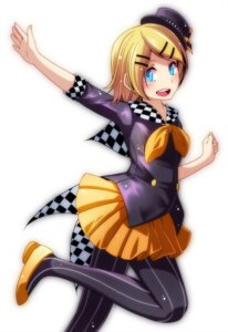 Rating: Safe Score: 18 Tags: kagamine_rin pantyhose tsukishiro_saika vocaloid User: charunetra
