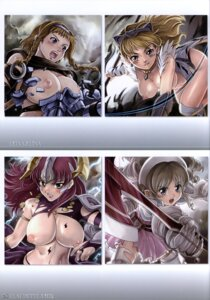 Rating: Questionable Score: 17 Tags: armor breasts claudette dress elina hamoto leina loli nipples queen's_blade thighhighs torn_clothes ymir User: eridani