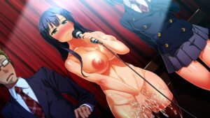Rating: Explicit Score: 50 Tags: censored cum game_cg kanzen_jikan_teishi naked nipples satsuki_shiho seifuku tan_lines thighhighs uo_denim waffle User: Mr_GT