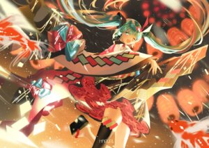 Rating: Safe Score: 19 Tags: hatsune_miku japanese_clothes magical_mirai mullpull thighhighs vocaloid User: Dreista