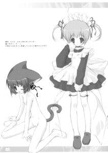 Rating: Explicit Score: 10 Tags: animal_ears loli maid monochrome morinaga_korune naked nekomimi nipples pussy tail thighhighs User: midzki