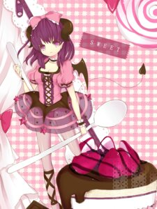 Rating: Questionable Score: 27 Tags: devil dress horns momoshiki_tsubaki pantsu pantyhose see_through tail wings User: charunetra