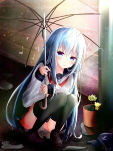 Rating: Questionable Score: 61 Tags: hibiki_(kancolle) kantai_collection kayakooooo pantsu seifuku thighhighs umbrella User: Poubelle