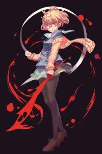 Rating: Safe Score: 24 Tags: heels kokitsukitsu kuriyama_mirai kyoukai_no_kanata megane pantyhose sword User: Mr_GT