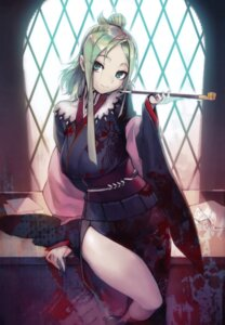 Rating: Safe Score: 83 Tags: full_metal_daemon_muramasa kimono namaniku_atk nitroplus olga_(muramasa) smoking User: donicila
