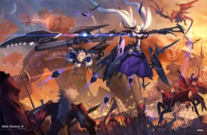 Rating: Safe Score: 39 Tags: armor gun mecha mhk monster pixiv_fantasia_v sword User: hobbito