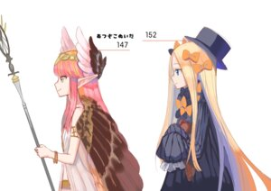 Rating: Safe Score: 25 Tags: abigail_williams_(fate/grand_order) circe dress fate/grand_order kumo955 pointy_ears weapon wings User: charunetra