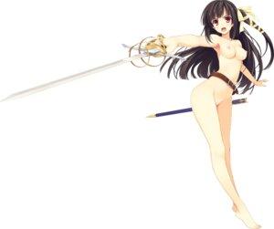 Rating: Questionable Score: 84 Tags: effordom_soft koikishi_purely_kiss naked nipples shidou_mana sword yuuki_hagure User: Fanla