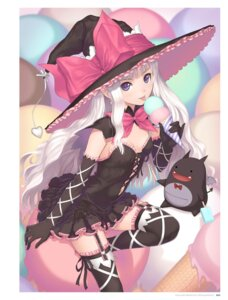 Rating: Questionable Score: 51 Tags: christmas cleavage cream devil digital_version dress elf fixed lolita_fashion melty_de_granite no_bra pointy_ears shining_hearts shining_world sorbe stockings thighhighs tony_taka witch User: Twinsenzw