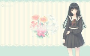 Rating: Safe Score: 37 Tags: flowers innocent_grey seifuku shirahane_suou sugina_miki wallpaper User: marshmallow
