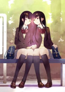 Rating: Safe Score: 41 Tags: okazaki_takeshi seifuku yuri User: Twinsenzw