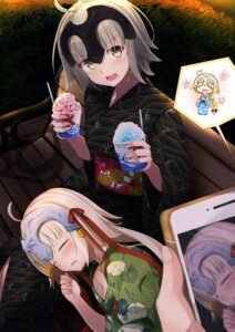 Rating: Safe Score: 35 Tags: chibi fate/grand_order jeanne_d'arc jeanne_d'arc_(alter)_(fate) jeanne_d'arc_(fate) jeanne_d'arc_alter_santa_lily sasahara_wakaba yukata User: Mr_GT