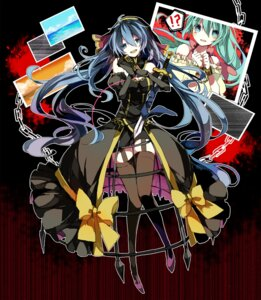 Rating: Safe Score: 25 Tags: cyawa dress garter_belt hatsune_miku stockings sword thighhighs vocaloid User: 23yAyuMe