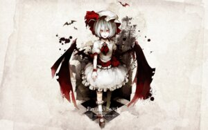 Rating: Safe Score: 8 Tags: remilia_scarlet riku touhou wallpaper wings User: charunetra