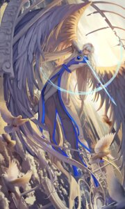 Rating: Safe Score: 18 Tags: ana_bi card_captor_sakura male sword wings yue User: charunetra