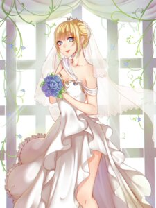 Rating: Safe Score: 19 Tags: cleavage dress fate/stay_night no_bra rokiru_(yukiyoooooo) saber wedding_dress User: Mr_GT