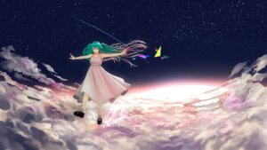 Rating: Safe Score: 12 Tags: dress hatsune_miku landscape vocaloid yue_(tada_no_saboten) User: charunetra