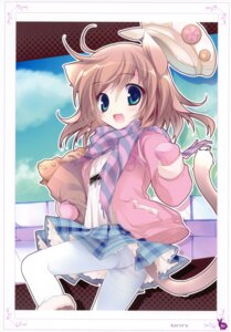 Rating: Questionable Score: 59 Tags: animal_ears karory nekomimi pantsu pantyhose shimapan tail User: crim
