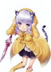 Rating: Safe Score: 45 Tags: animal_ears dress sorimura_youji tail umbrella User: Bulzeeb