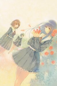 Rating: Safe Score: 20 Tags: flowers hanabishi_rikka innocent_grey kousaka_mayuri megane seifuku shirahane_suou sugina_miki tagme User: Hatsukoi