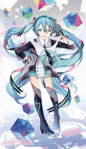 Rating: Safe Score: 50 Tags: hatsune_miku headphones heels kari_kenji thighhighs vocaloid User: Mr_GT