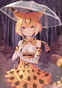 Rating: Safe Score: 23 Tags: animal_ears animal_ears_(artist) kemono_friends serval tail umbrella User: Mr_GT