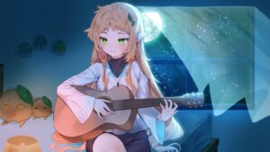 Rating: Safe Score: 11 Tags: cheli_(kso1564) guitar pointy_ears User: BattlequeenYume