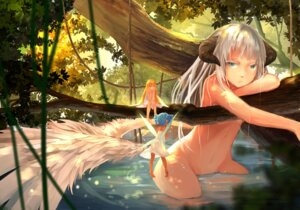 Rating: Questionable Score: 62 Tags: fairy gas horns naked pantsu see_through wings User: zero|fade
