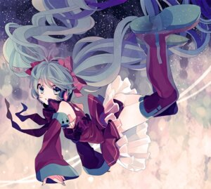 Rating: Safe Score: 21 Tags: amazawa_koma hatsune_miku headphones pantsu thighhighs vocaloid User: Radioactive