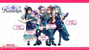 Rating: Safe Score: 25 Tags: bang_dream! bang_dream!_girls_band_party! cleavage guitar heels hikawa_sayo imai_lisa minato_yukina shirokane_rinko thighhighs udagawa_ako wallpaper User: saemonnokami