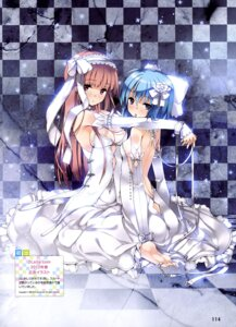 Rating: Questionable Score: 75 Tags: ass cleavage dress feet no_bra refeia wedding_dress yuri User: drop