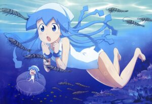 Rating: Safe Score: 45 Tags: chibi honda_yoshino ikamusume shinryaku!_ikamusume swimsuits User: PPV10