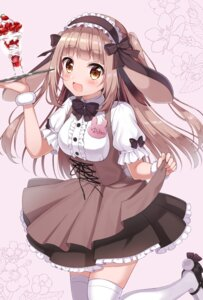 Rating: Safe Score: 28 Tags: animal_ears bunny_ears maid siooooono skirt_lift thighhighs waitress User: yanis