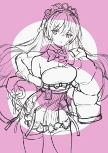 Rating: Questionable Score: 11 Tags: maid monochrome saitom sketch tagme thighhighs User: Radioactive
