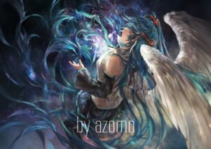 Rating: Safe Score: 35 Tags: avamone hatsune_miku vocaloid wings User: Mr_GT