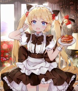 Rating: Questionable Score: 33 Tags: andrea_doria_(zhanjianshaonv) animal_ears bloomers maid nekomimi situmey skirt_lift tail waitress zhanjianshaonv User: sym455
