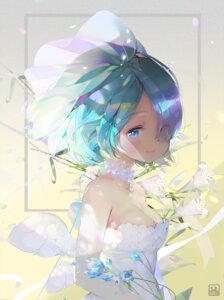 Rating: Safe Score: 66 Tags: cleavage dress proopra re_zero_kara_hajimeru_isekai_seikatsu rem_(re_zero) wedding_dress User: Mr_GT