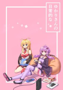 Rating: Safe Score: 14 Tags: cleavage dress hopepe thighhighs tsurumaki_maki vocaloid yuzuki_yukari User: charunetra