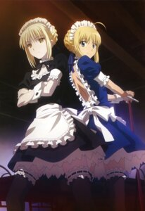 Rating: Safe Score: 102 Tags: amano_yoki carnival_phantasm fate/stay_night garter maid saber saber_alter thighhighs User: YamatoBomber