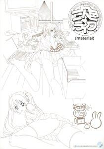 Rating: Questionable Score: 21 Tags: ass koutaro line_art monochrome nijiiro_zakura pantsu thighhighs User: petopeto