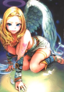 Rating: Questionable Score: 17 Tags: bikini_top carina_(xiao_woo) tagme tattoo wings User: Radioactive