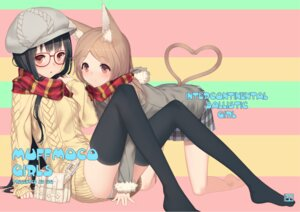 Rating: Safe Score: 22 Tags: animal_ears izumi_sai megane pantsu tail thighhighs User: blooregardo