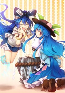 Rating: Safe Score: 18 Tags: chima_q heels hinanawi_tenshi touhou yorigami_shion User: Mr_GT