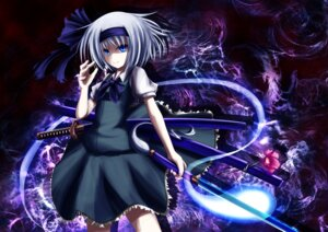 Rating: Safe Score: 14 Tags: konpaku_youmu koyake sword touhou User: GeniusMerielle