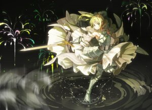 Rating: Questionable Score: 28 Tags: armor dress fate/grand_order je35353577 saber saber_lily sword User: hiroimo2