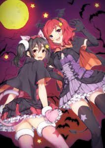 Rating: Safe Score: 31 Tags: animal_ears halloween lolita_fashion love_live! nekomimi nishikino_maki tail thighhighs wings yana_mori yazawa_nico User: Mr_GT