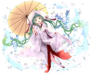 Rating: Safe Score: 38 Tags: hatsune_miku kimono rozer umbrella vocaloid yuki_miku User: Mr_GT