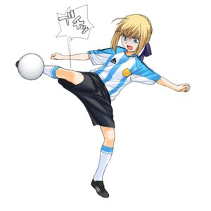 Rating: Safe Score: 4 Tags: a1 fate/stay_night initial-g saber soccer User: Radioactive