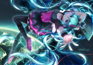 Rating: Safe Score: 68 Tags: 7th_dragon_2020-ii cleavage hatsune_miku kuroi_asahi thighhighs vocaloid User: Mr_GT